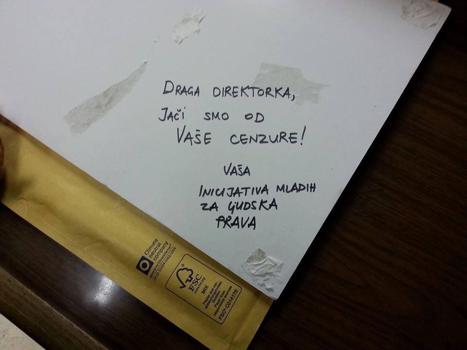 Pismo direktorki - YIHR